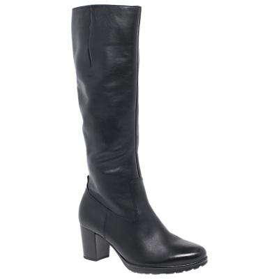 Gabor Hillary Medium Fit Knee High Boots, Black Leather