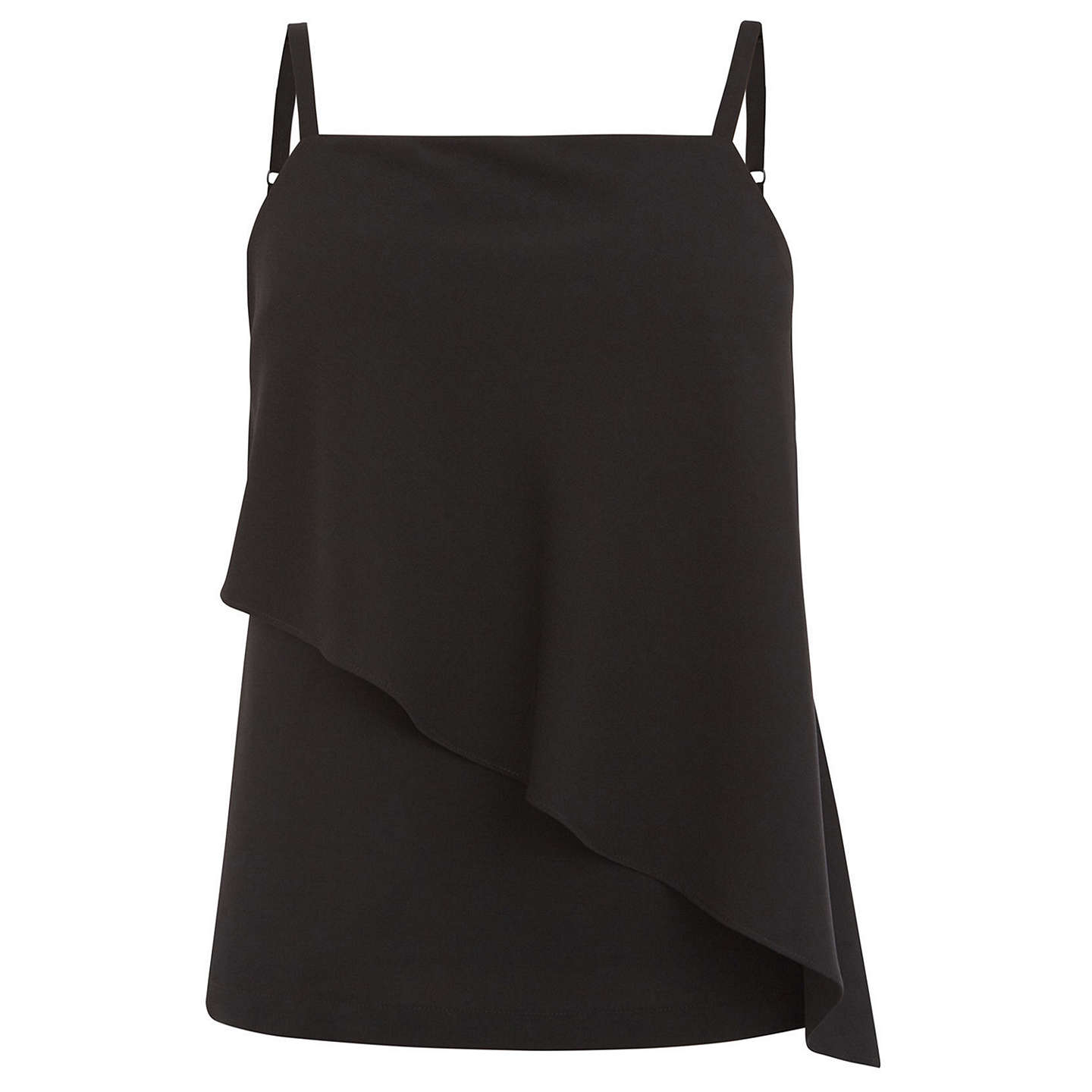 BuyWarehouse Asymmetric Woven Mix Cami, Black, 6 Online at johnlewis.com