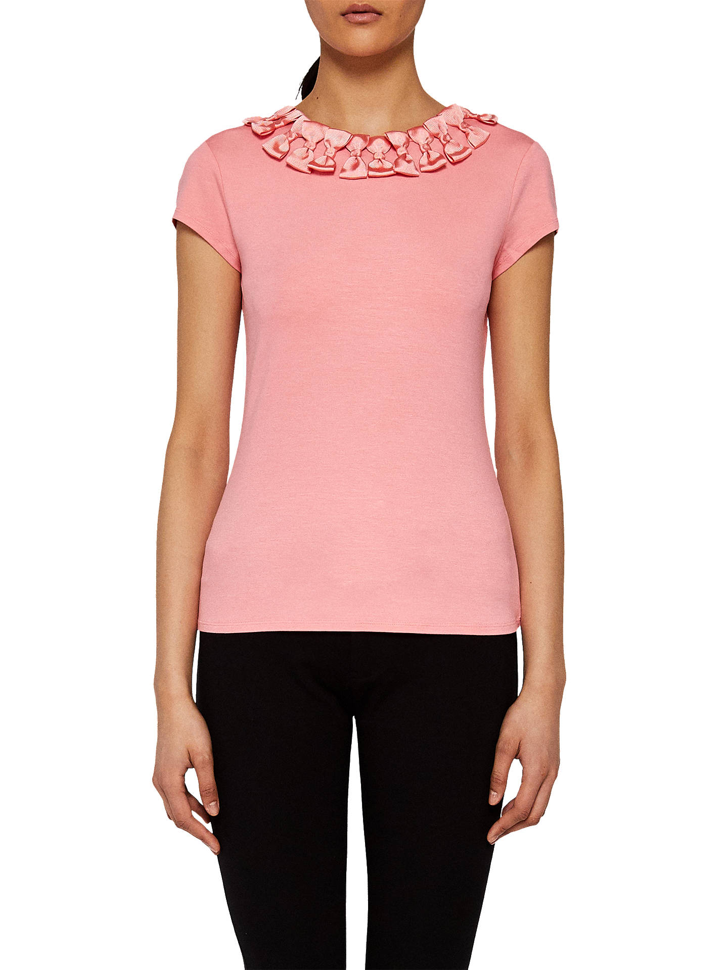 b60217fa0eddc Buy Ted Baker Charre Bow Trim T-Shirt