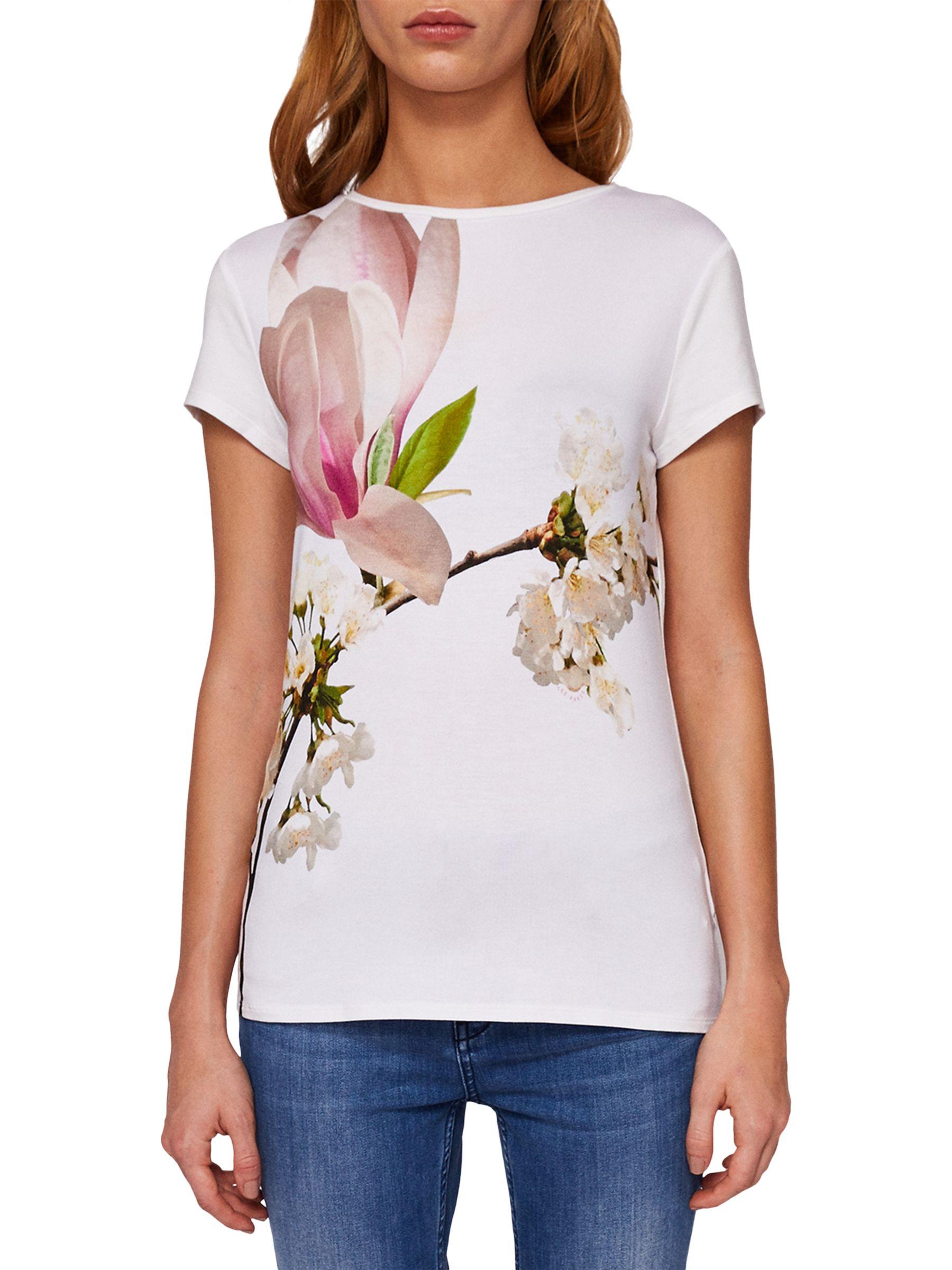 1dd9805e9 Ted Baker Aeesha Harmony Floral Print T-Shirt at John Lewis   Partners