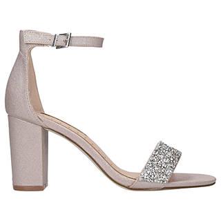 Miss KG Cadey Block Heel Sandals, Nude