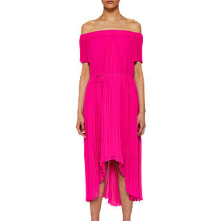 cef1f9442844c1 Ted Baker Melli Off The Shoulder Maxi Dress. Neon Pink