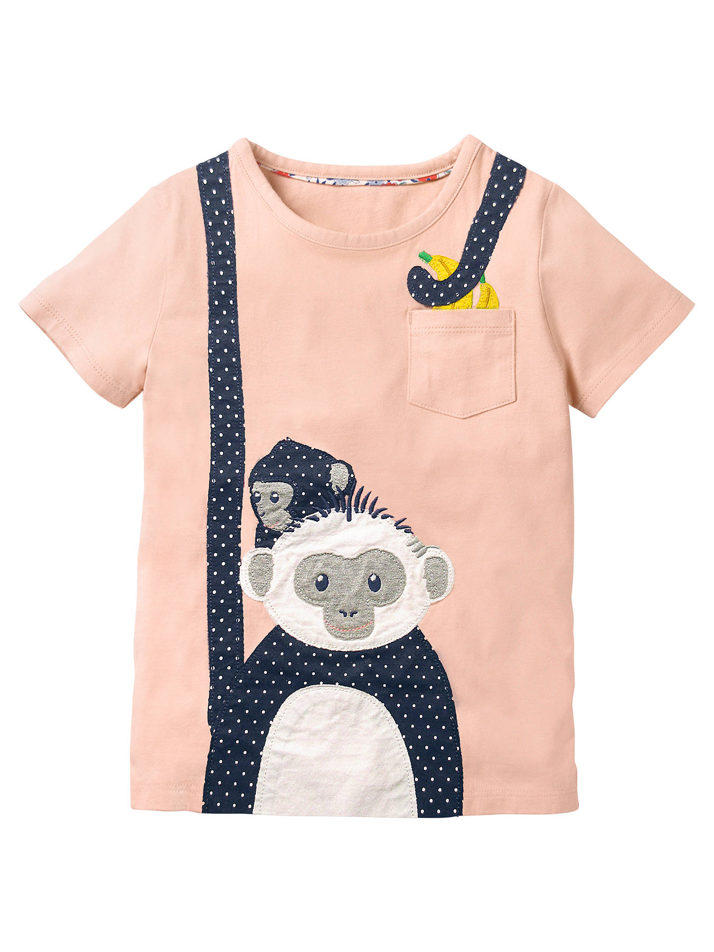 6def72231 Mini Boden Girls  Monkey Applique T-Shirt