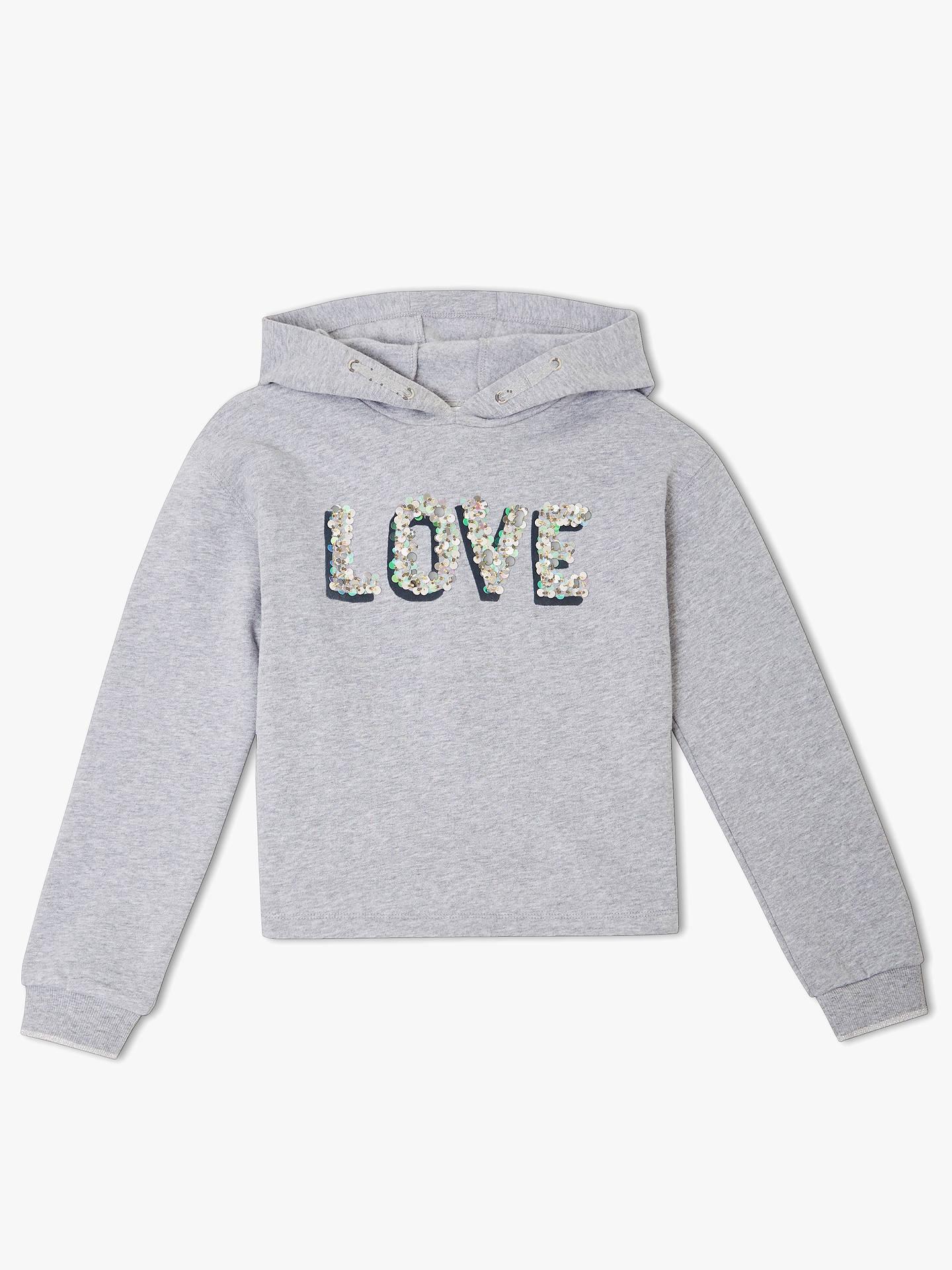 ae91ffca4c98 John Lewis   Partners Girls  Sequin Hooded Sweatshirt