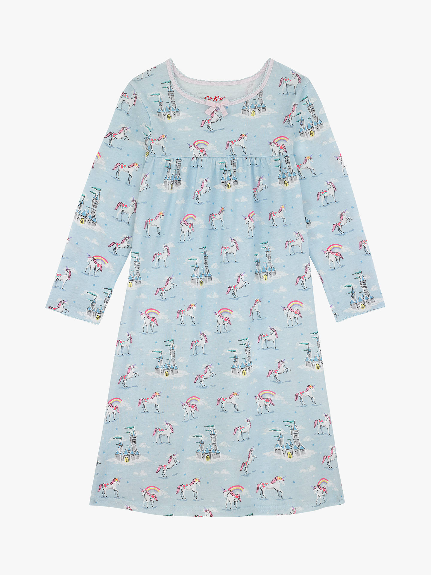 BuyCath Kids Girls' Unicorns and Rainbows Nightdress, Blue, 2-3 years Online at johnlewis.com