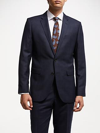 John Lewis & Partners Zegna Check Regular Suit Jacket, Navy