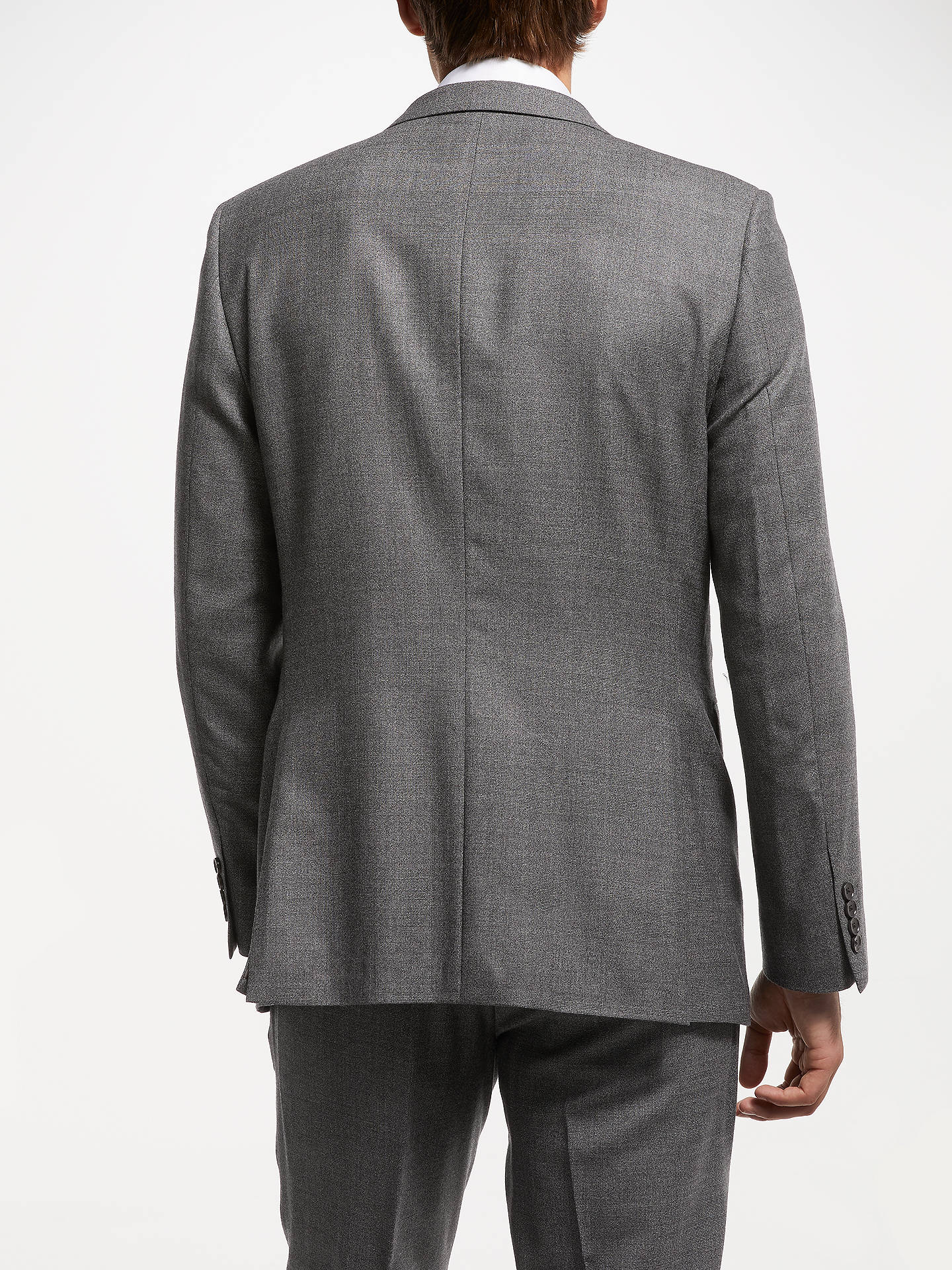 Buy John Lewis & Partners Zegna Check Suit Jacket, Grey, 40L Online at johnlewis.com