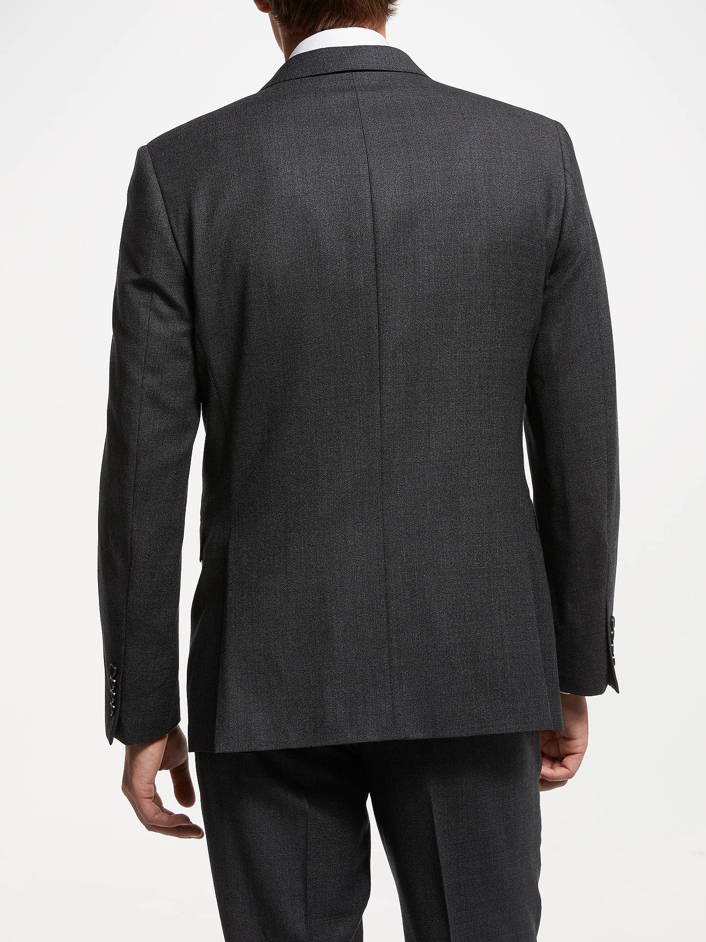 BuyJohn Lewis & Partners Zegna Plain Wool Suit Jacket, Charcoal, 38S Online at johnlewis.com