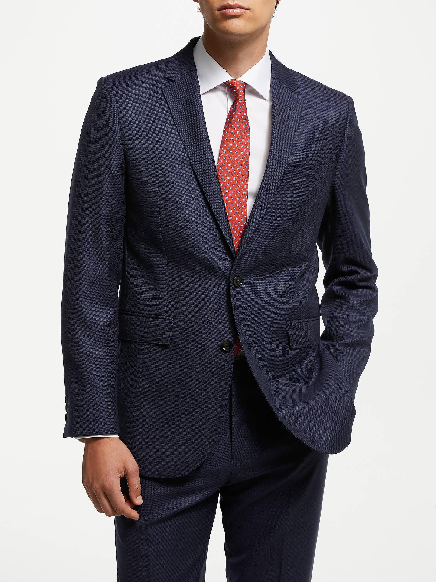 5a3081ce John Lewis & Partners Zegna Birdseye Suit Jacket, Navy
