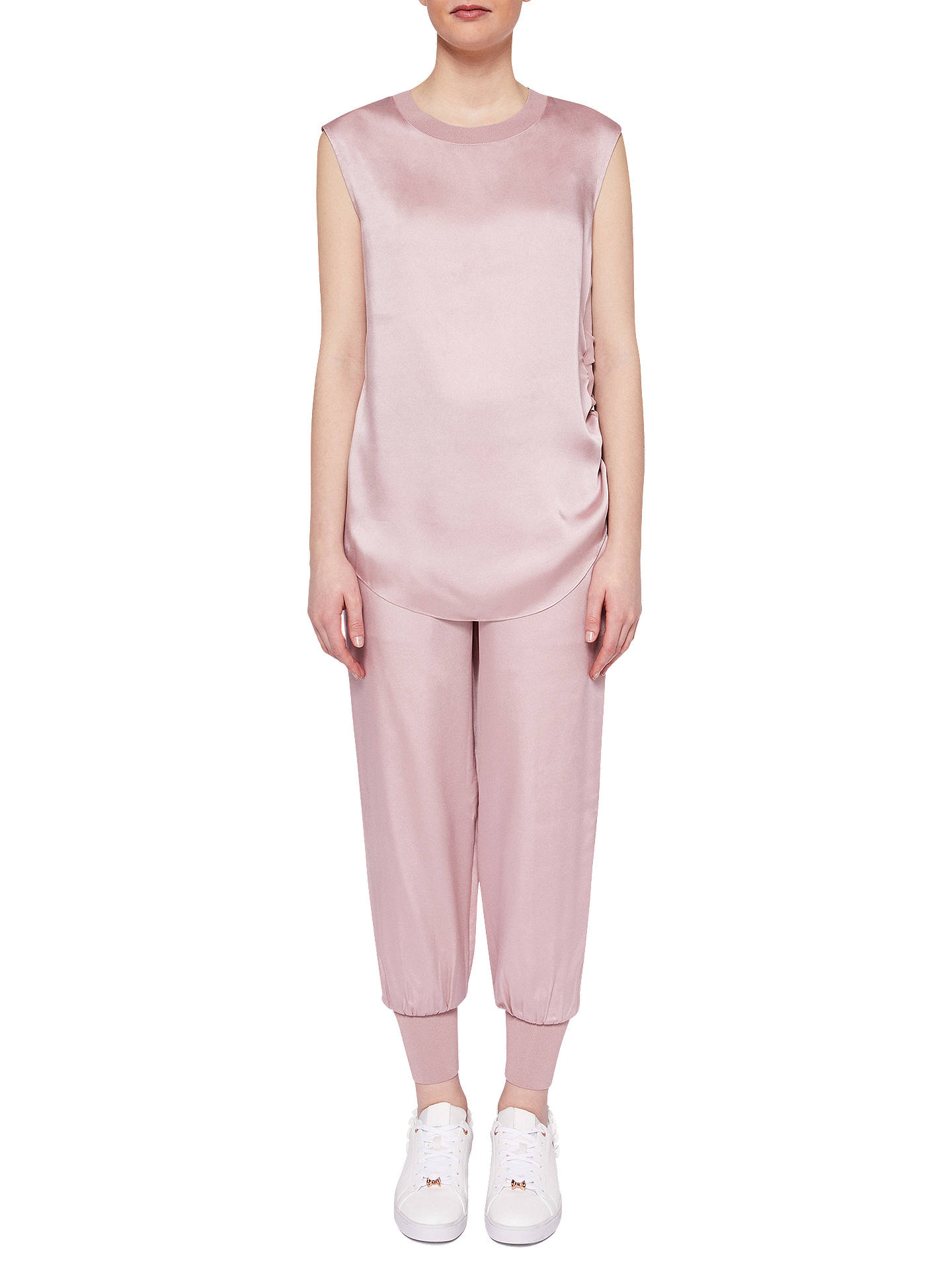 BuyTed Baker Ted Says Relax Aibrey Satin Jogger Trousers, Pink, 0 Online at johnlewis.com