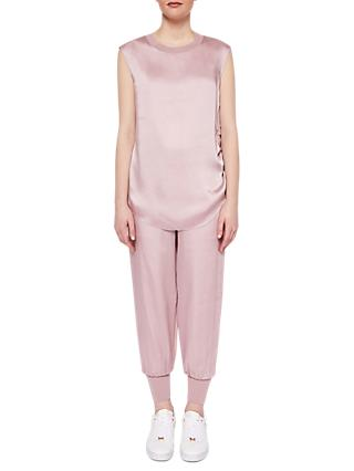 Ted Baker Ted Says Relax Aibrey Satin Jogger Trousers, Pink