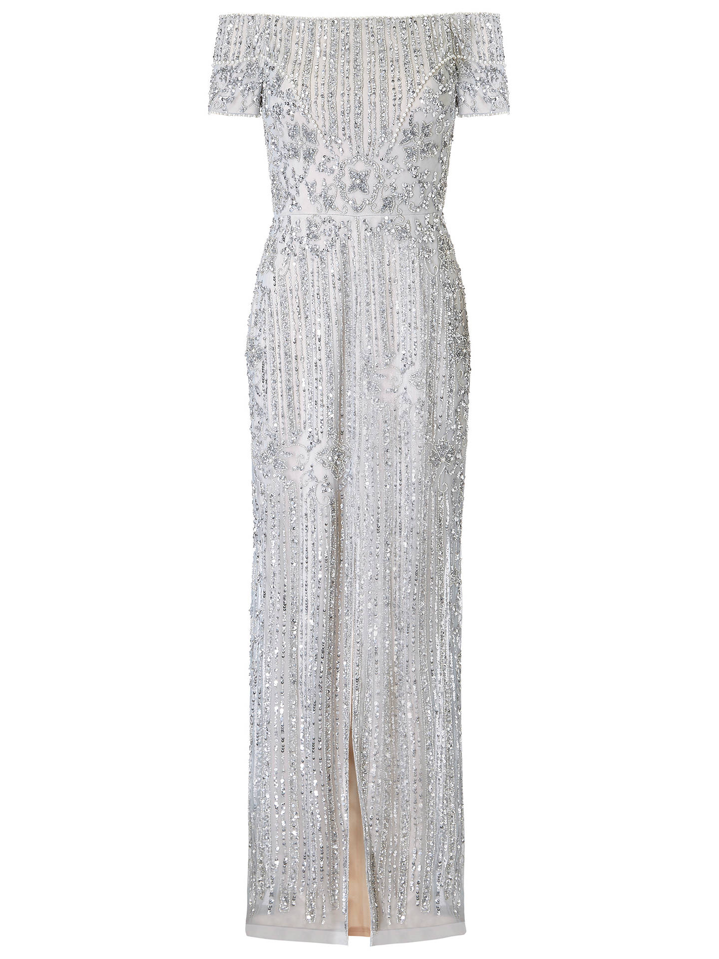 BuyAdrianna Papell Petite Heather Dress, Silver, 6 Online at johnlewis.com