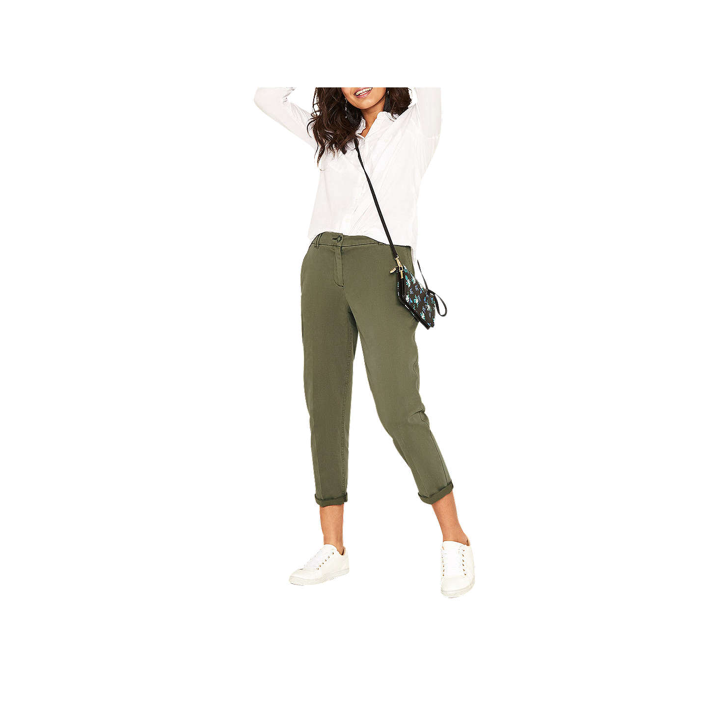 BuyOasis Casual Cotton Chinos, Khaki, 6 Online at johnlewis.com