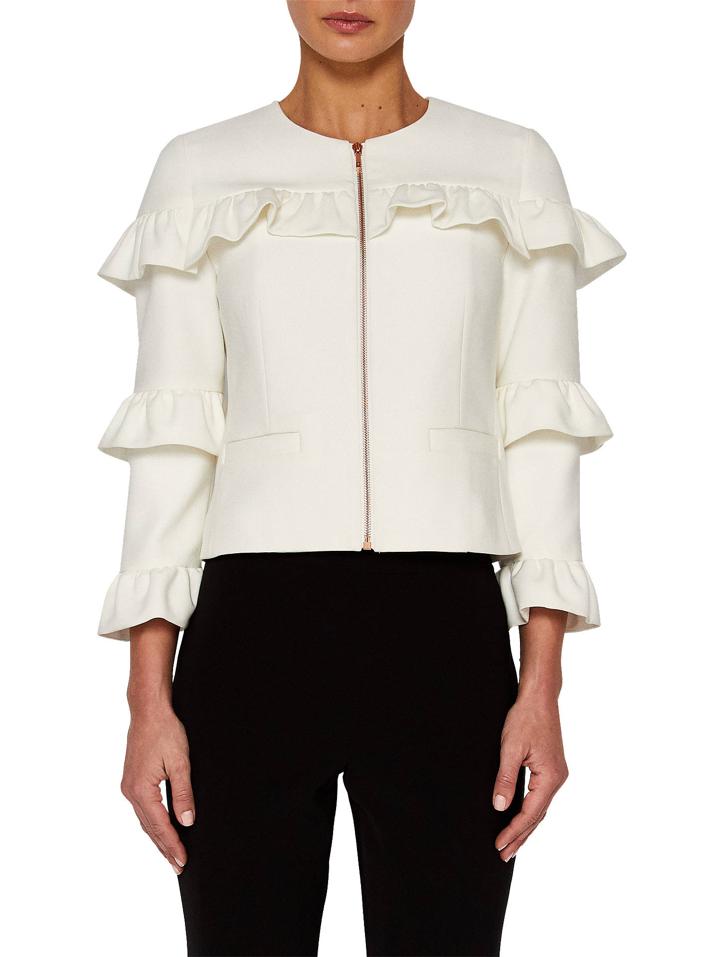 998276b86 Buy Ted Baker Frill Sleeve Cropped Jacket