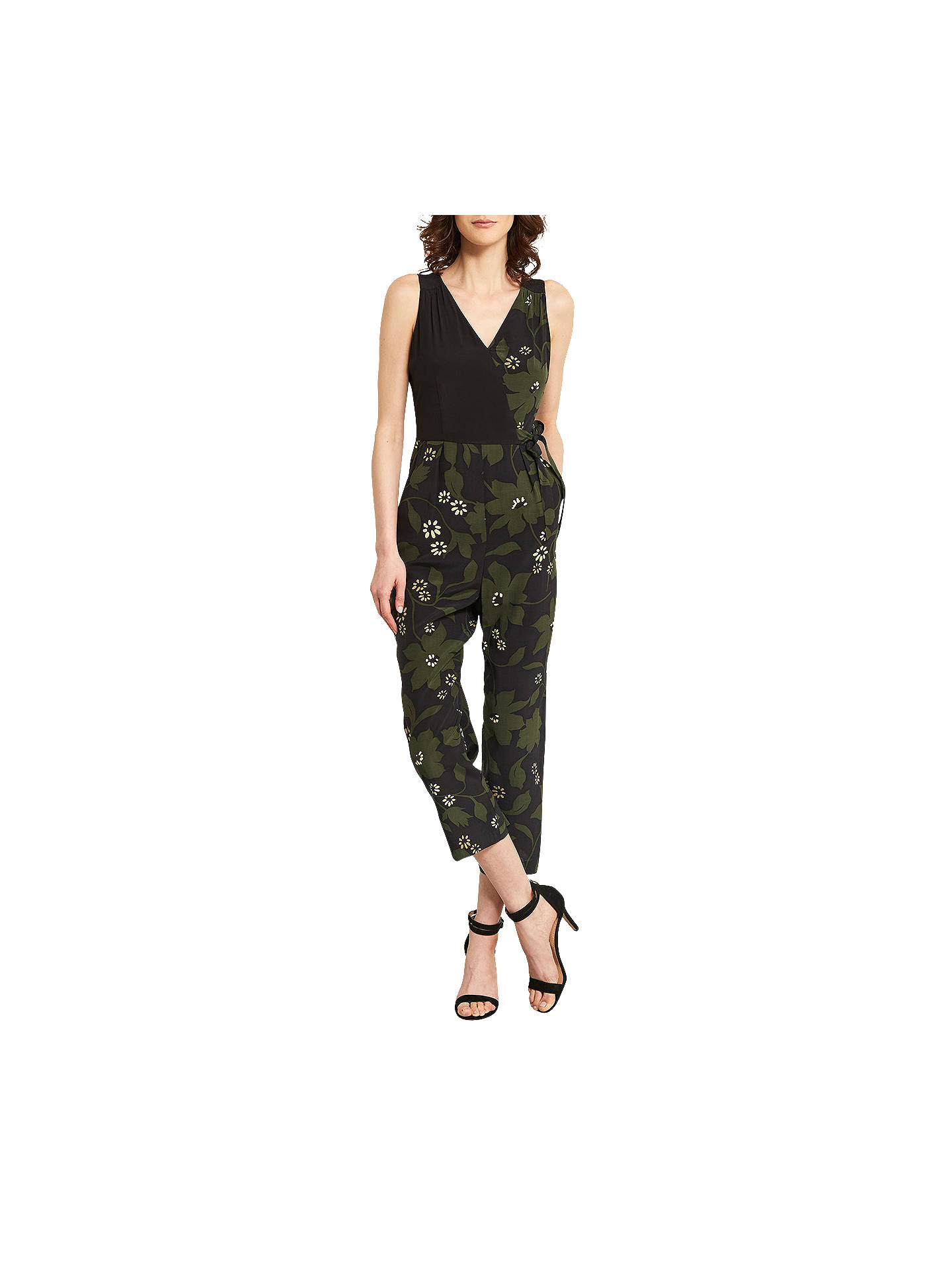 ce38f170764a8 Buy Mint Velvet Bethany Wrap Printed Jumpsuit, Multi, 6 Online at  johnlewis.com ...