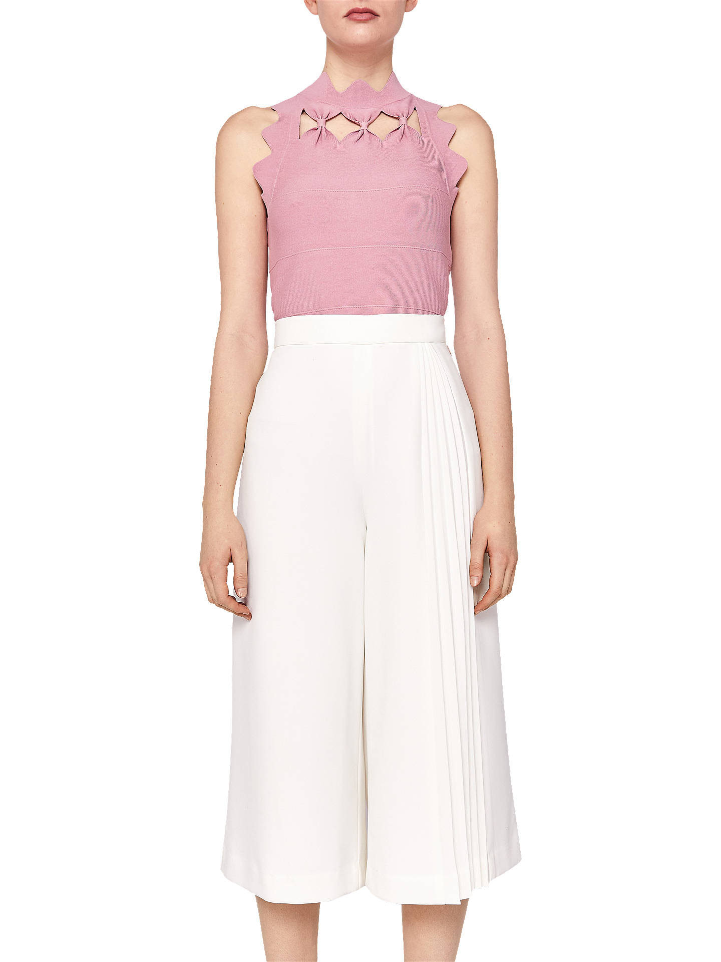 Buy Ted Baker Bow Detail Knit Top, Dusky Pink, 6 Online at johnlewis.com