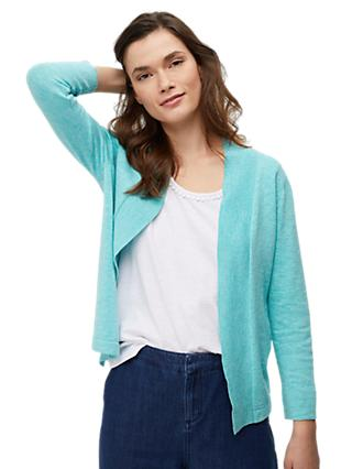 White Stuff River Cotton Cardigan, Blue