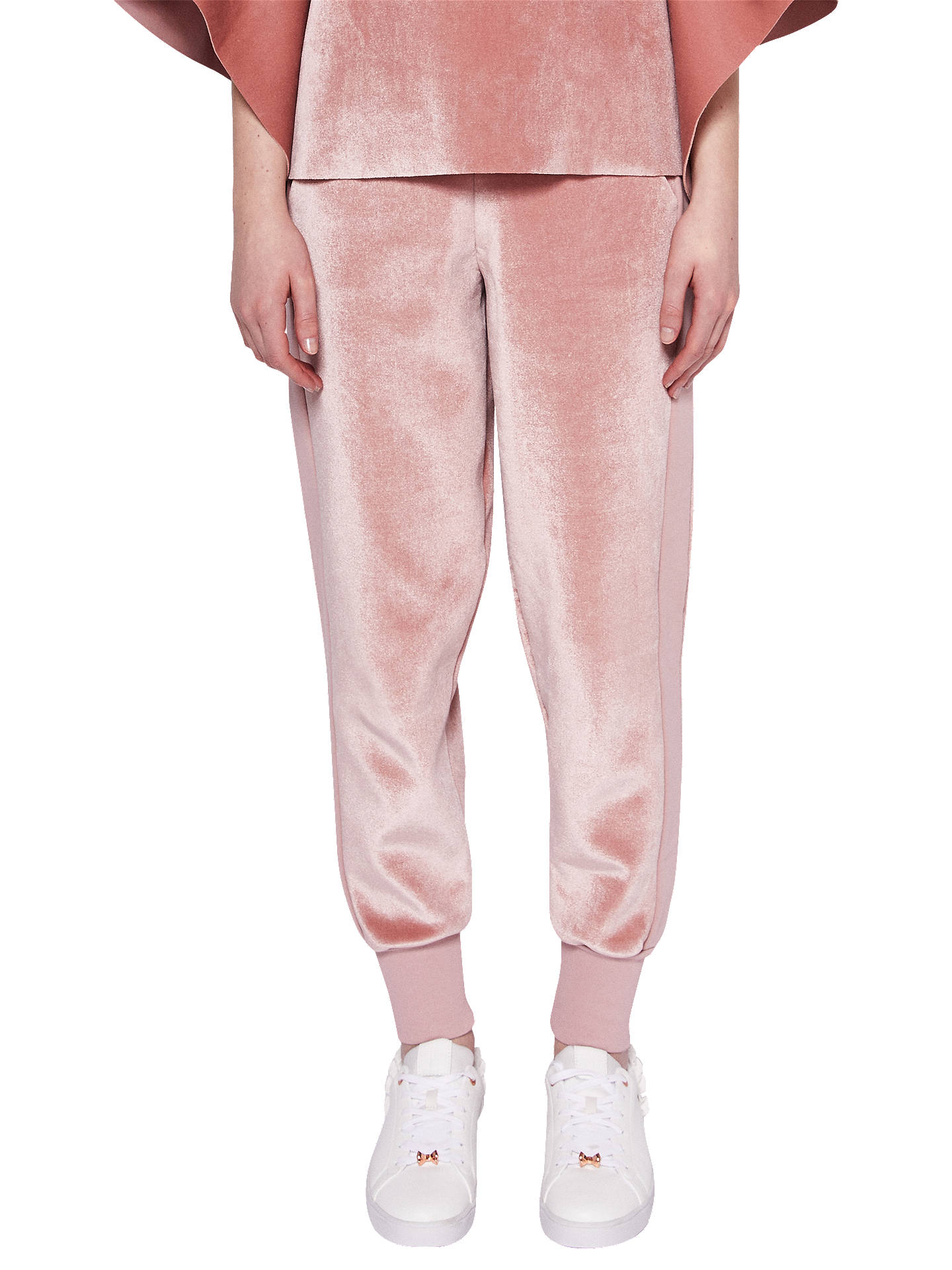 Buy Ted Baker Velvet Joggers, Dusky Pink, 6 Online at johnlewis.com