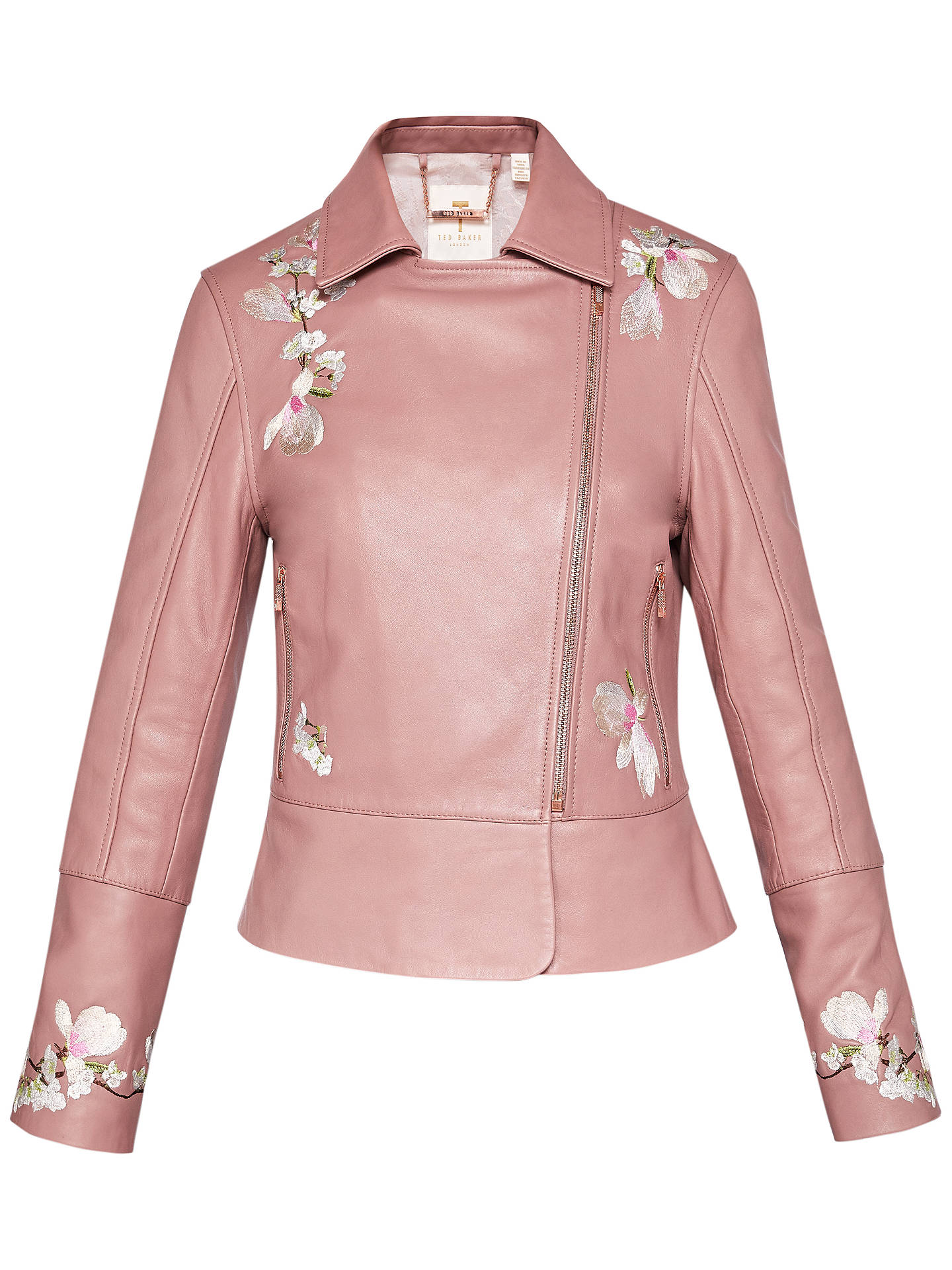 cozy fresh 2018 sneakers arrives Ted Baker Jaydeea Harmony Embroidered Biker Jacket, Light ...