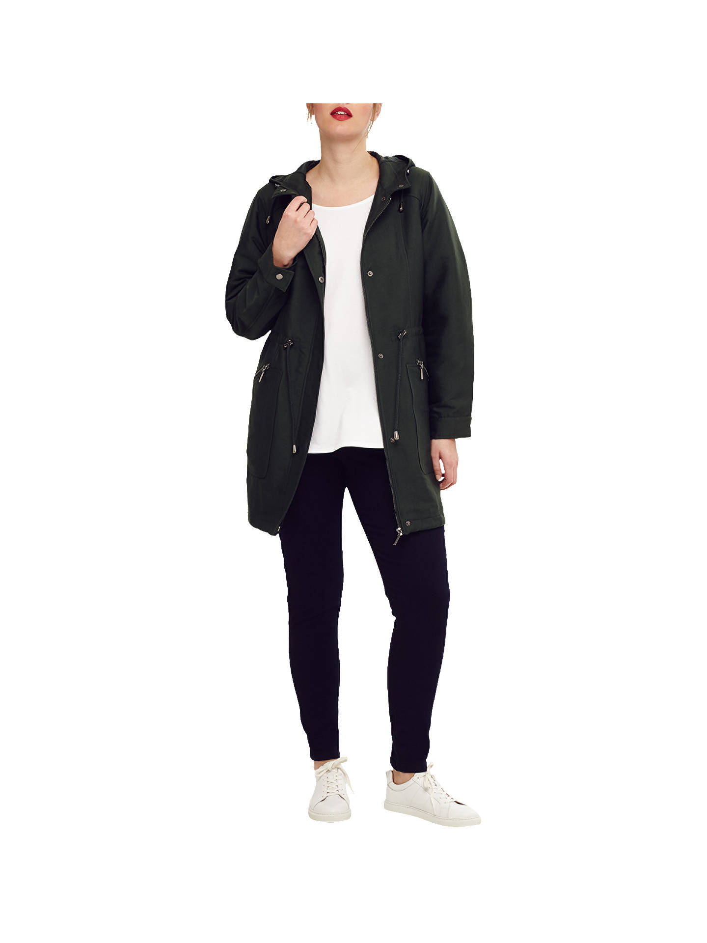 Buy Studio 8 Caroline Parka Coat, Green, 16 Online at johnlewis.com