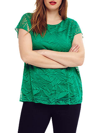 Buy Studio 8 Marianna Burnout Top, Green, 12 Online at johnlewis.com