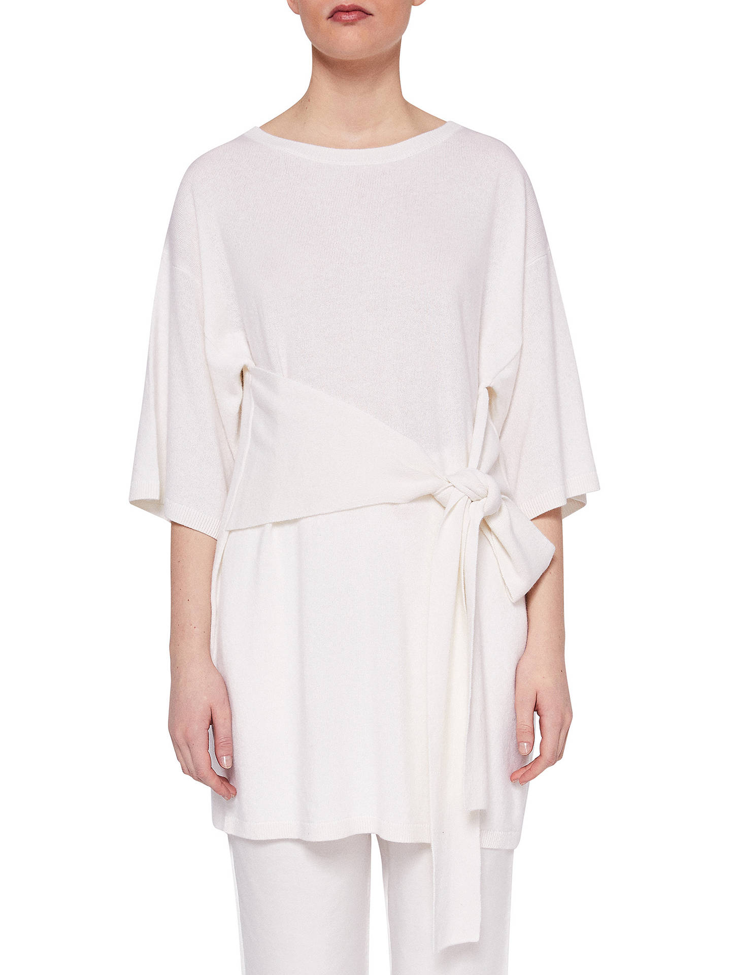 10d1f7836e67 Buy Ted Baker Ted Says Relax Olympy Tie Front Knitted Tunic Dress, Ivory, S  ...