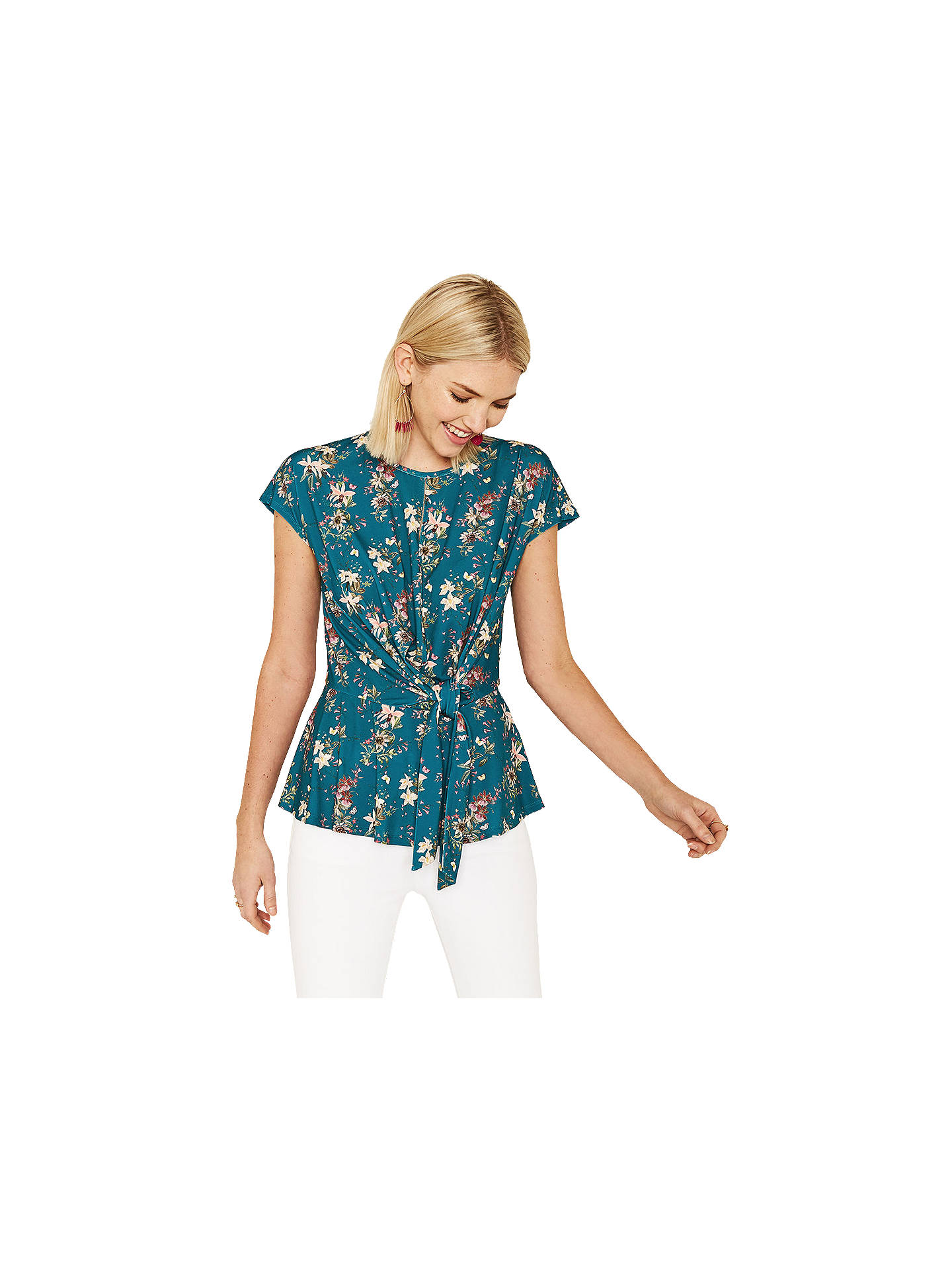 e4d46019edc7 Buy Oasis Mini Kelsey Top, Multi/Green, XS Online at johnlewis.com ...
