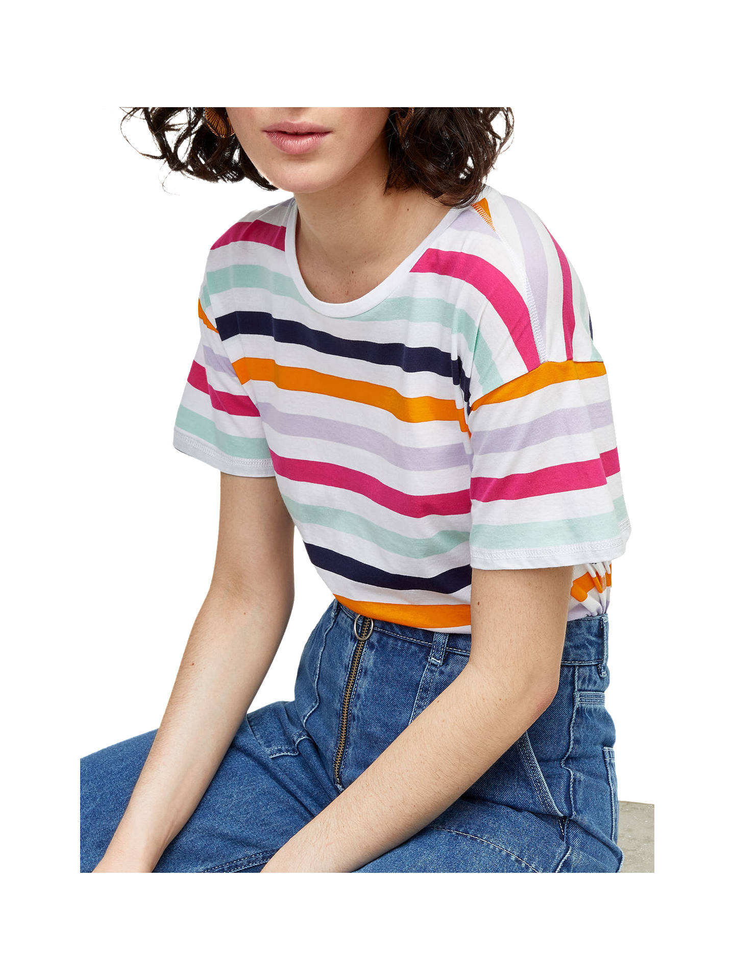 352f9c3830 Buy Warehouse Rainbow Stripe Casual T-Shirt