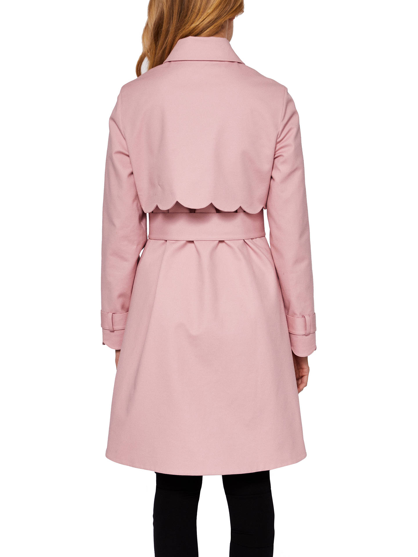 e04f7b40a74d Buy Ted Baker Synndey Scallop Detail Cotton Mac