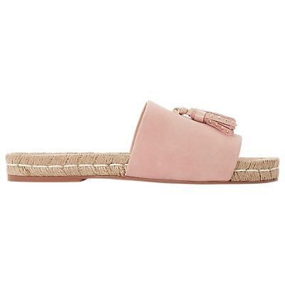 Bertie Lainie Tassel Slider Sandals, Pink Suede