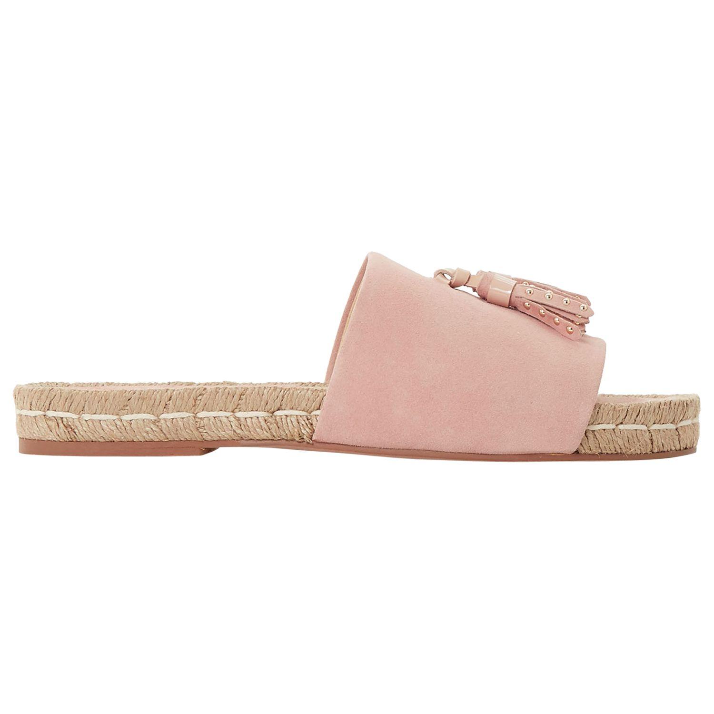 Bertie Bertie Lainie Tassel Slider Sandals, Pink Suede