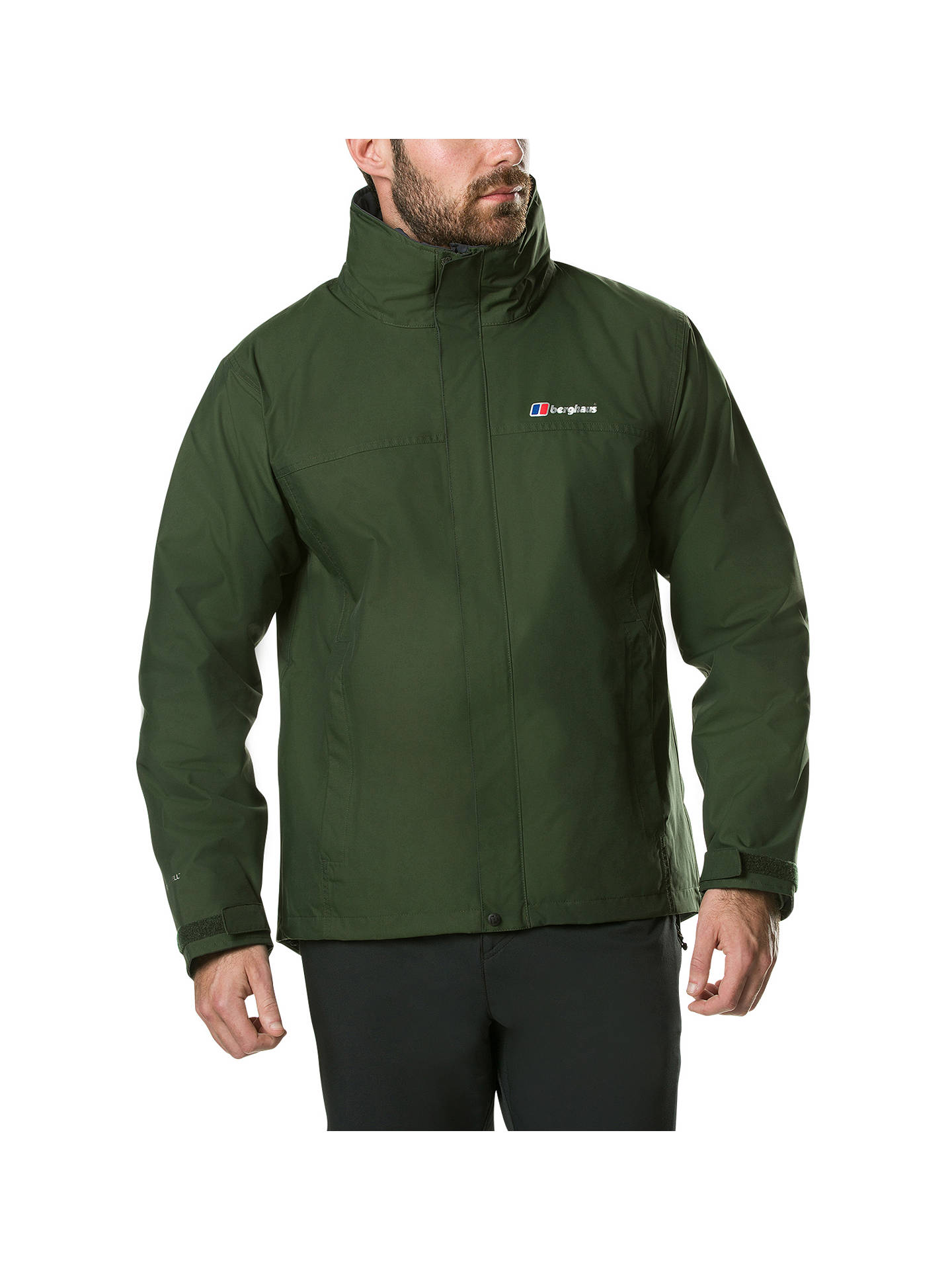 Buy Berghaus RG Alpha 3-in-1 Waterproof Men's Jacket, Dark Green, M Online at johnlewis.com