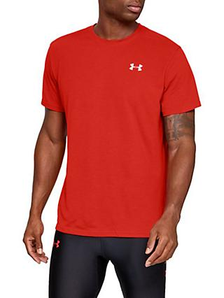 e0e3f55a Under Armour Streaker Short Sleeve Running Top, Radio Red/Reflective