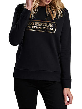 Buy Barbour Mugello Cotton Sweater, Black, 8 Online at johnlewis.com