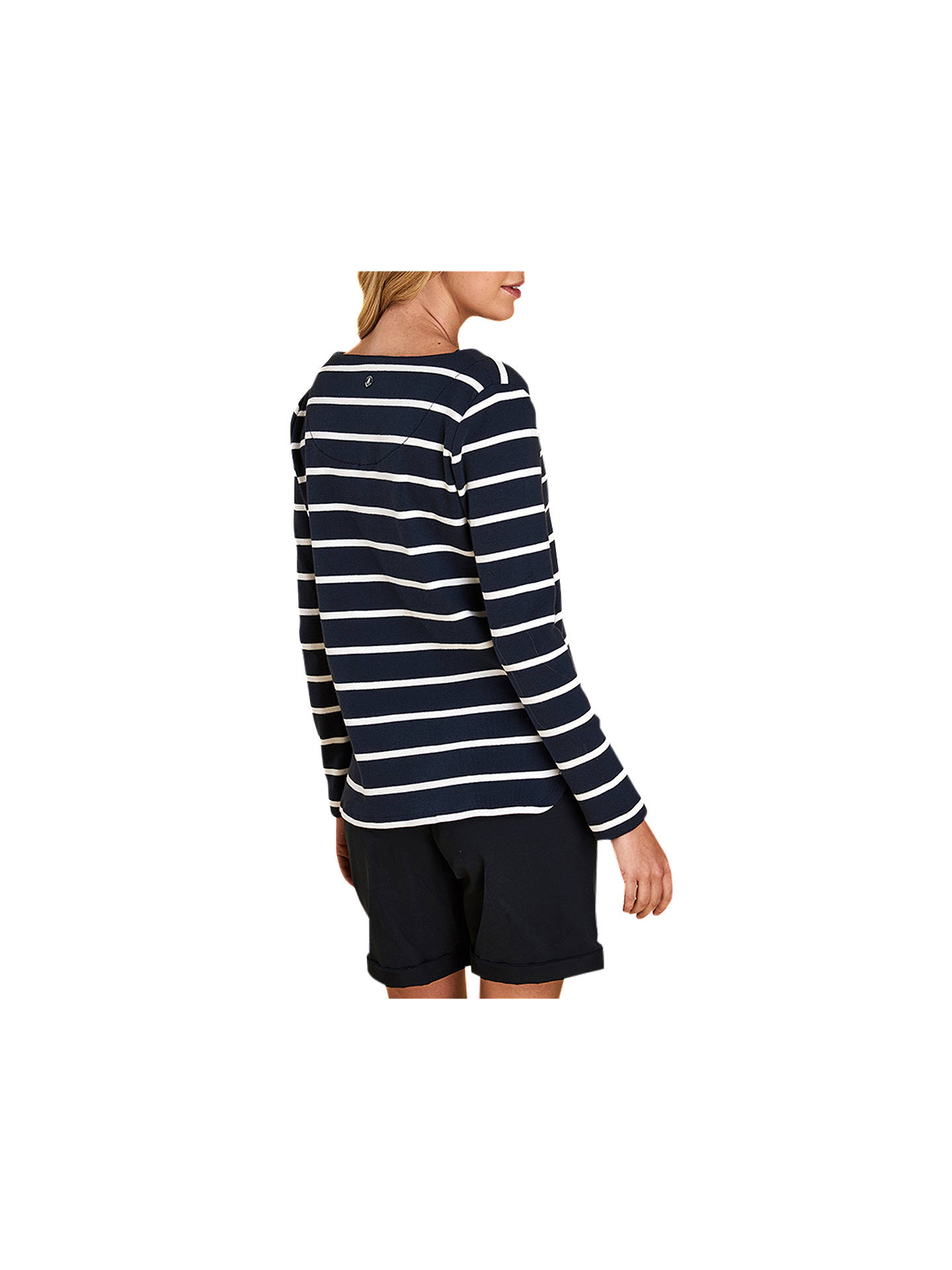 BuyBarbour Watergate Tie Neck Top, Blue, 8 Online at johnlewis.com