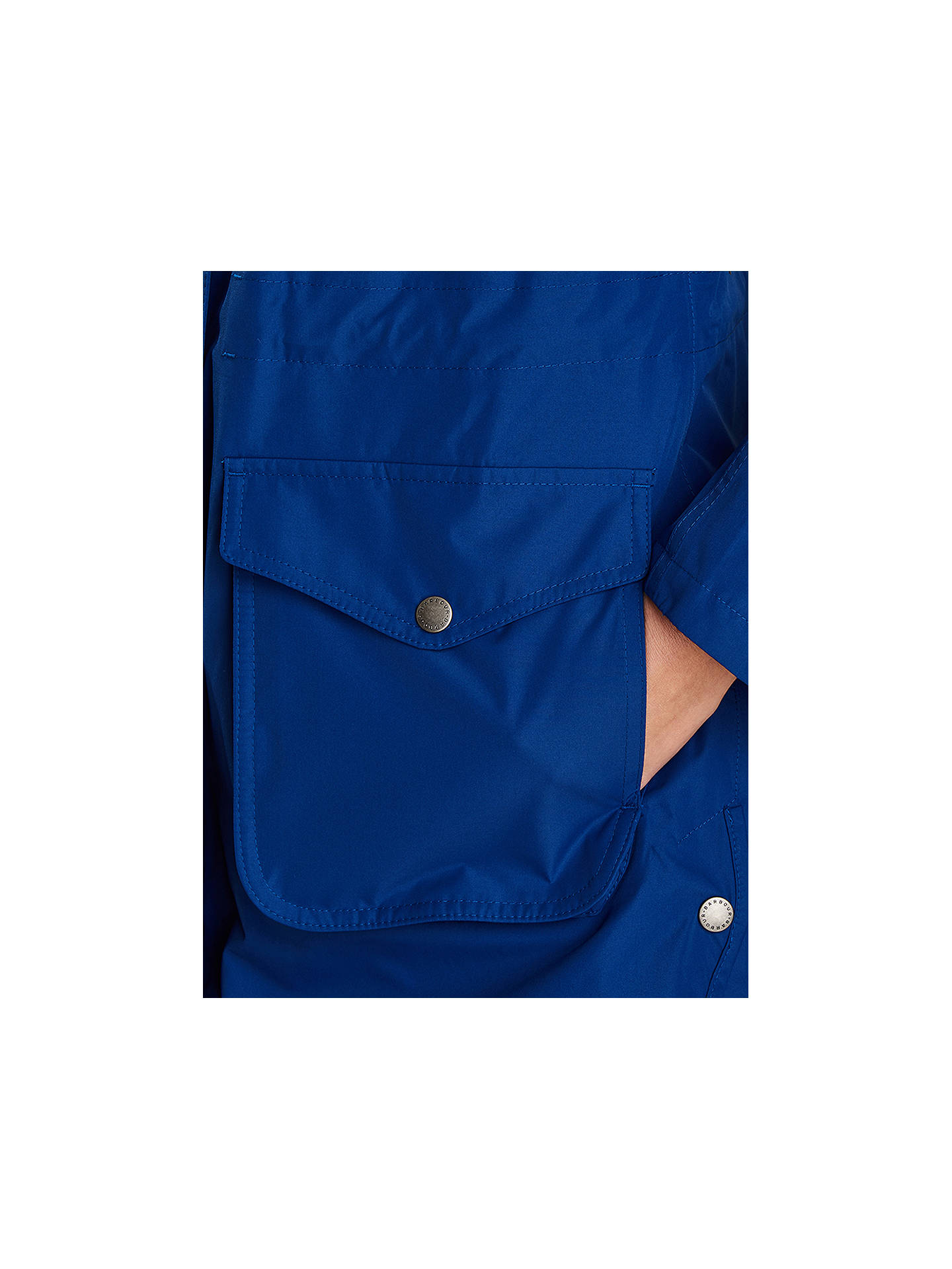 Buy Barbour Studland Waterproof Jacket, Cobalt, 8 Online at johnlewis.com