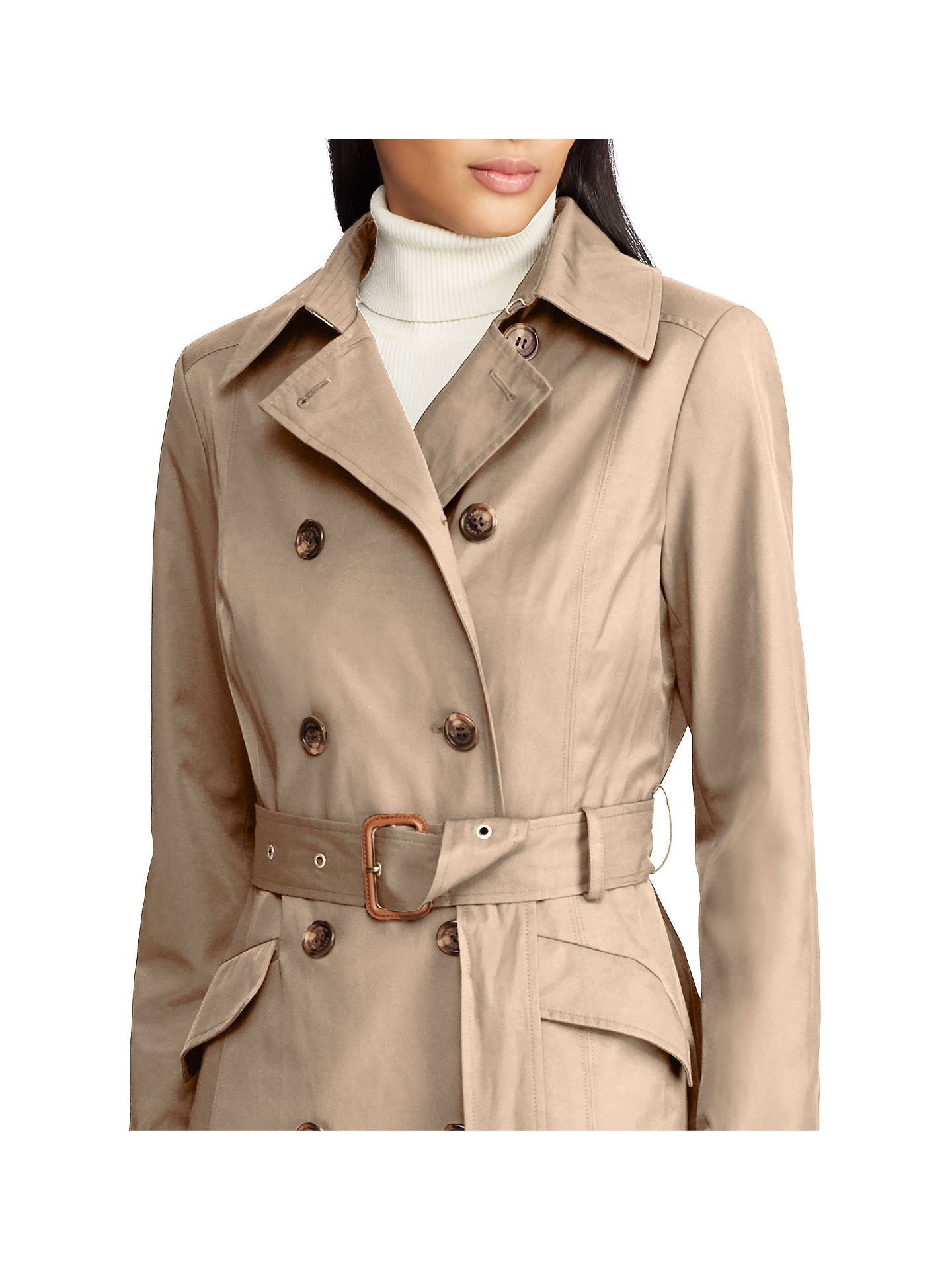 Double Trench Coat Lauren At Lewis John Ralph Breasted Sand Pxtx5Rq