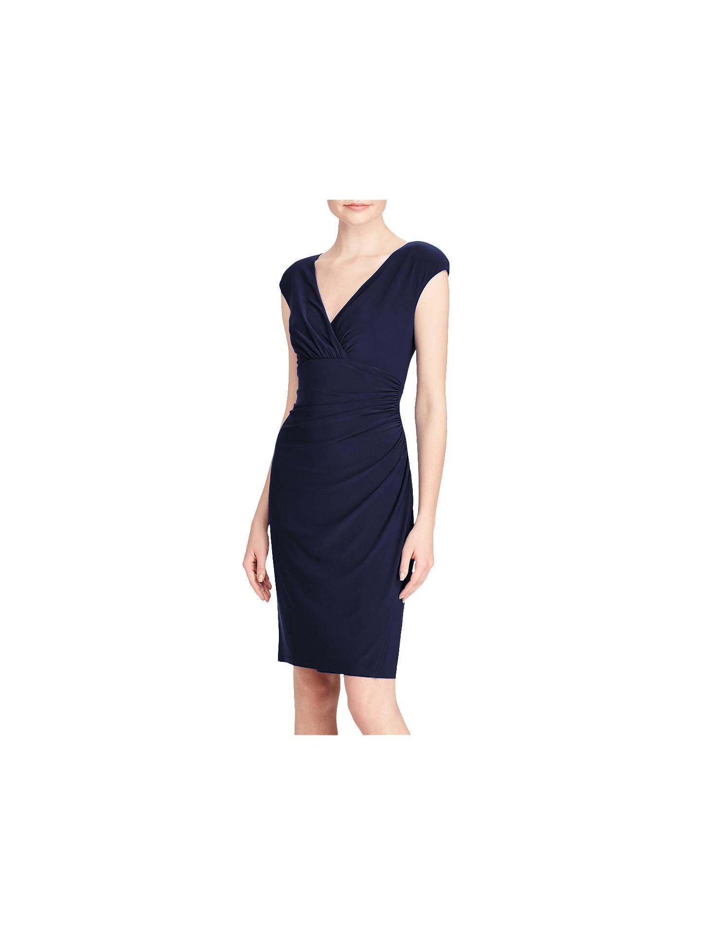 be35d68c Buy Lauren Ralph Lauren Adara Capped Sleeve Dress, Lighthouse Navy, 6  Online at johnlewis ...