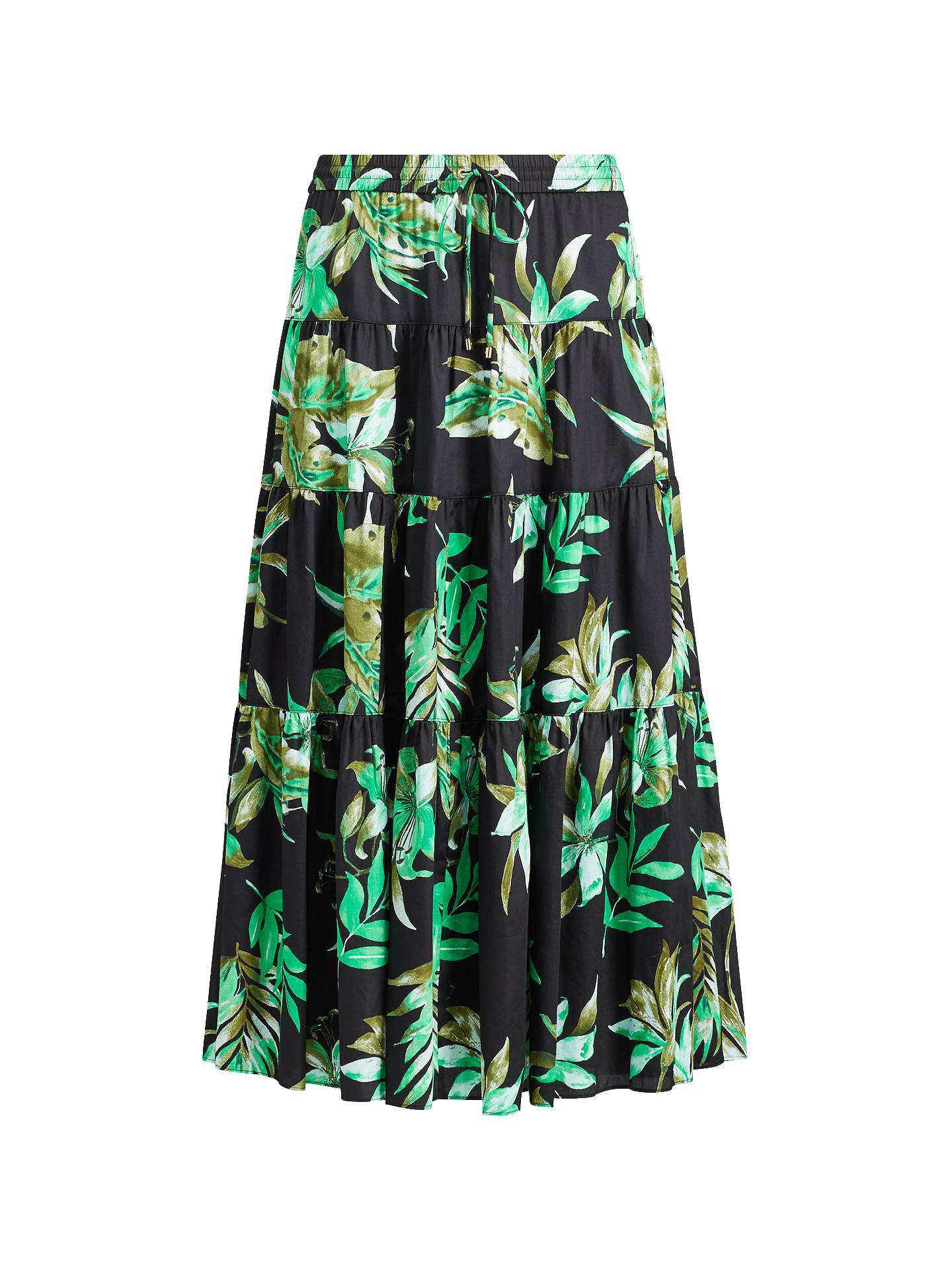 BuyLauren Ralph Lauren Oretha Fern Print Skirt, Black Multi, XS Online at  johnlewis ... 98f4c2b28500