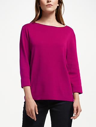 Gerry Weber Three Quarter Sleeve Knit, Pink Passion