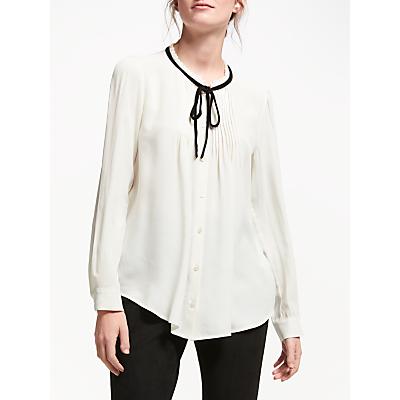 Marella Abelia Pleated Tie Blouse, Cream