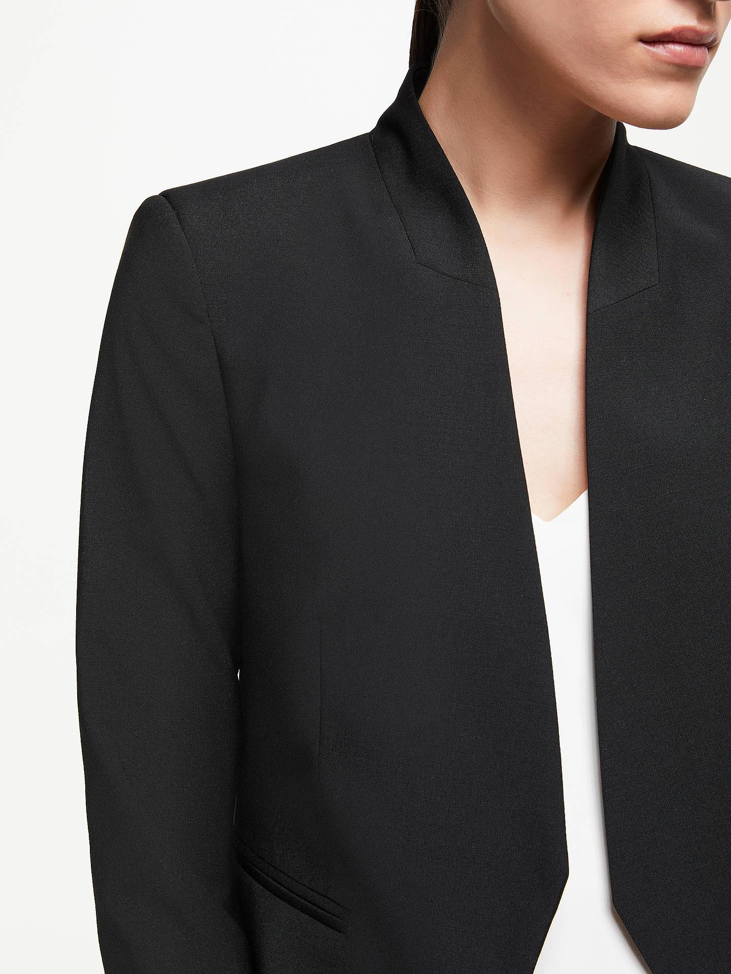 577319fe ... Buy John Lewis & Partners Collarless Short Tailored Jacket, Black, 8  Online at johnlewis ...