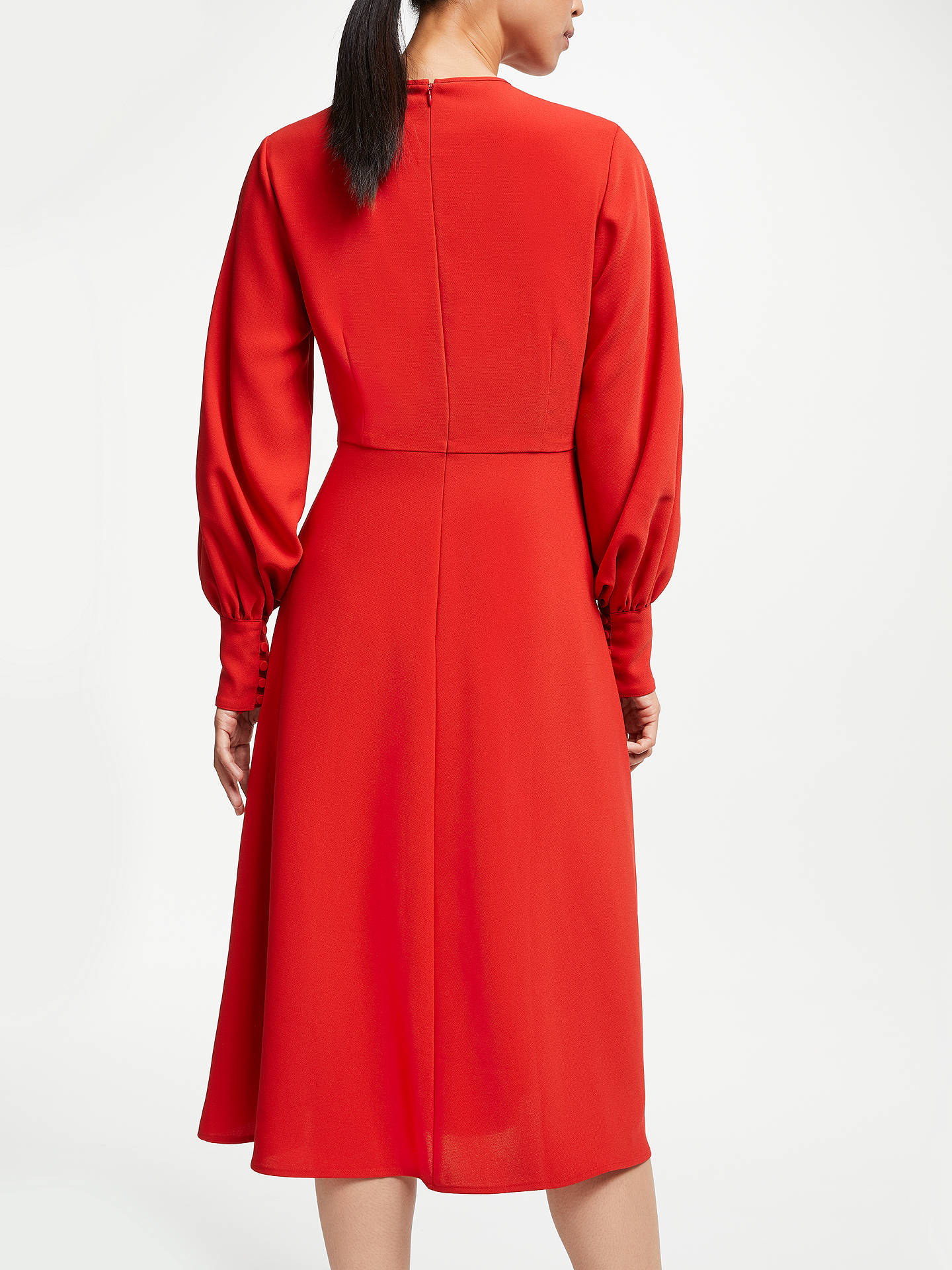Buy John Lewis & Partners Full Sleeve Midi Dress, Burnt Orange, 8 Online at johnlewis.com