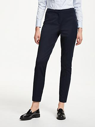 John Lewis & Partners Slim Leg Tailored Trousers, Navy