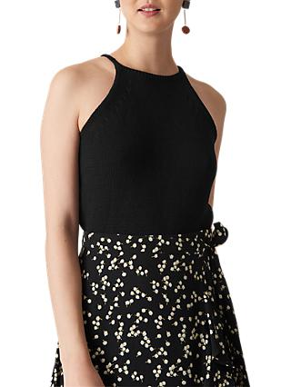 Whistles Knitted Vest Top, Black