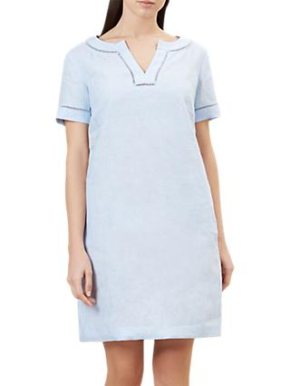 Hobbs Linen Anna Tunic Dress, Oyster