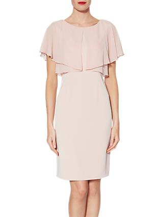 Gina Bacconi Flora Crepe And Chiffon Dress