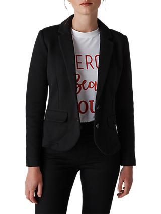 Whistles Slim Jersey Jacket, Black