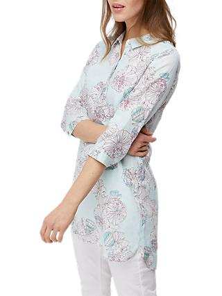 White Stuff Harper Linen Tunic Top, Sky Blue