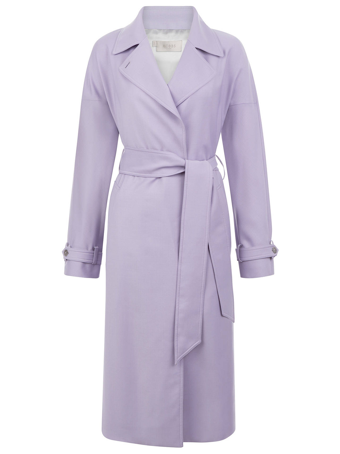 BuyHobbs Lydia Trench Coat, Lilac, 6 Online at johnlewis.com